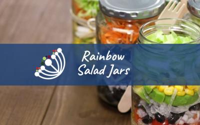 Rainbow Salad Jars